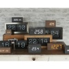 Tube black wood alarm clock