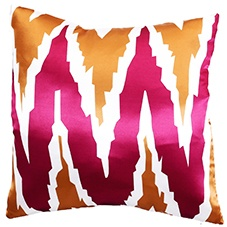 Zag pink 45x45 cushion