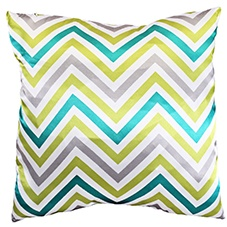 Zag emerald 45x45 cushion