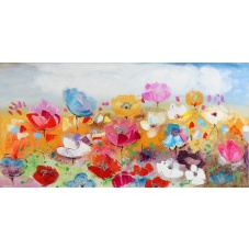 Flowers - W240 (60x120) painting