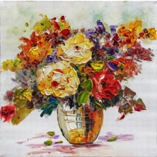 Flowers - Z349 (60x60) painting