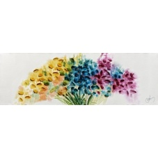 Flowers - W552 (30x90) painting