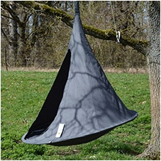 Cacoon black hanging chair