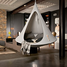 Cacoon grey hanging chair