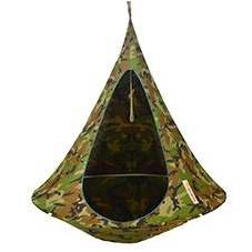 Cacoon camouflage hanging chair
