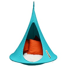 Cacoon turquoise hanging chair