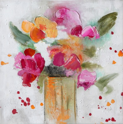 Flowers - W233 (30x30) painting