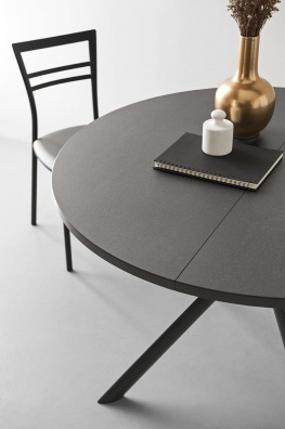 Giove round and oval dining table