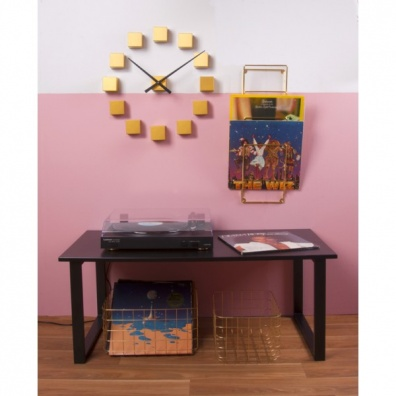 DIY Cubic gold wall clock