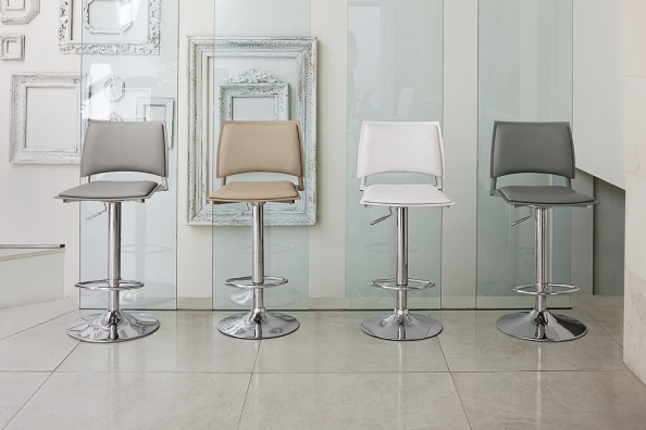 Happy white bar stool in stock